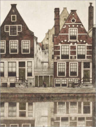 Canvas print  Houses on the Groenburgwal in Amsterdam - Frans Everbag