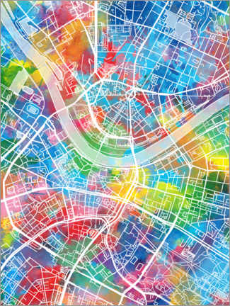 Canvas print  Dresden city map - Bekim Mehovic