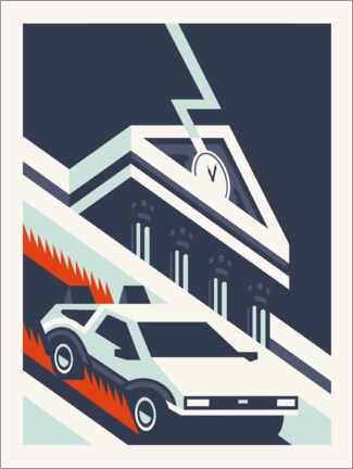 Canvas print  Back to the future - minimal
