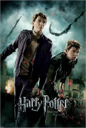 Wood print  The Deathly Hallows II - Fred & George