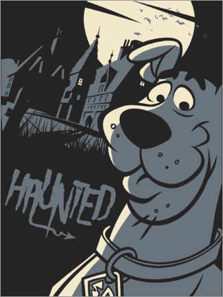 Canvas print  Scooby Doo - Haunted house