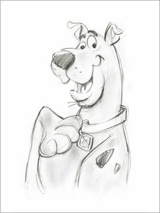 Premium poster Scooby sketch