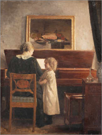Canvas print  At the piano - Peter Vilhelm Ilsted