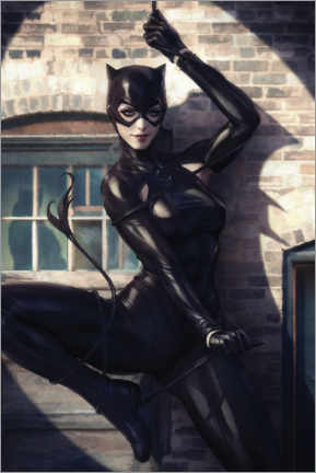 Wood print  Catwoman