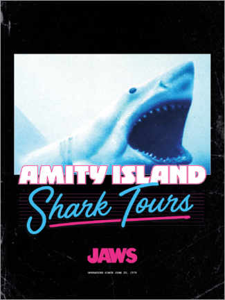 Foam board print  Shark Tours, retro