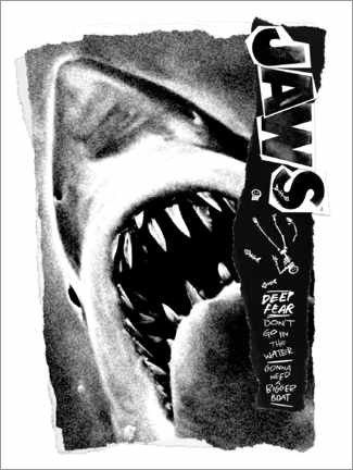 Foam board print  Jaws - Deep Fear Collage
