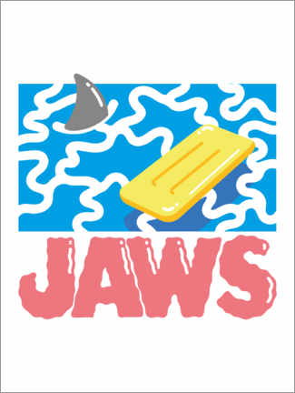 Wood print  Jaws Hyperbeach