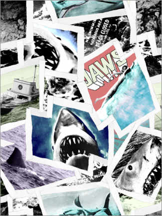 Foam board print  Jaws photo collage