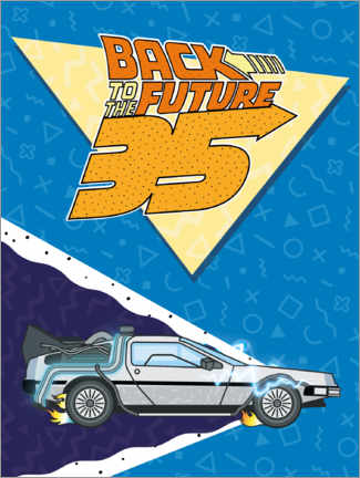 Wall sticker  DeLorean Retro Illustration