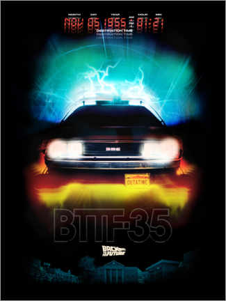 Premium poster  DeLorean Night Ride