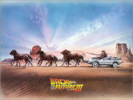 Premium poster  Back to the future III - Carriage