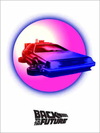 Premium poster  BTTF time travel pink