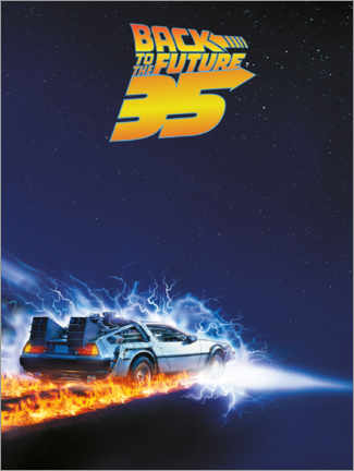 Canvas print  35 Years of Back to the future