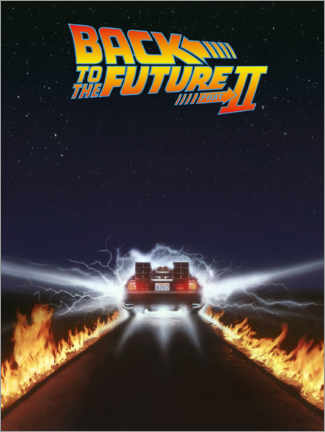 Foam board print  Back to the future II - DeLorean