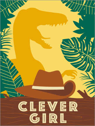 Premium poster Clever Girl
