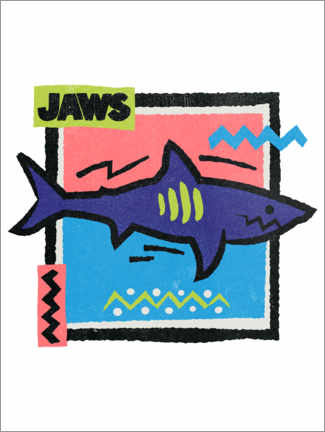 Acrylic print  Jaws Pop Art