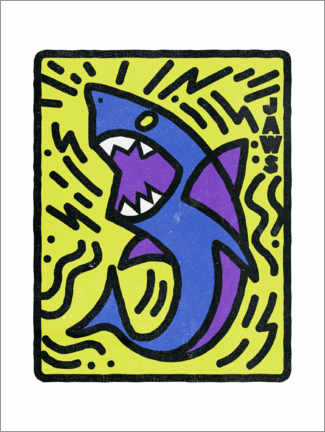 Wall sticker  Jaws - Keith Haring Style