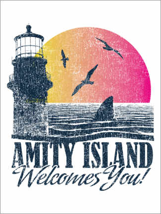 Canvas print  Amity Island Welcomes You
