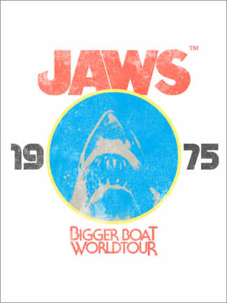 Foam board print  Bigger Boat World Tour