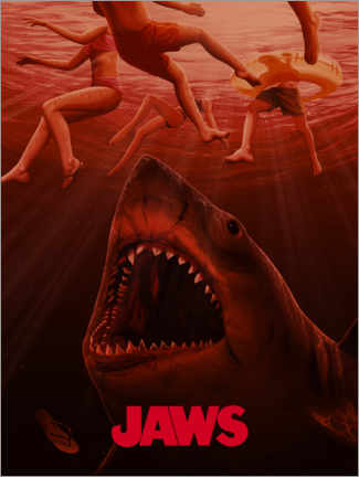 Foam board print  Jaws - Horror vision I