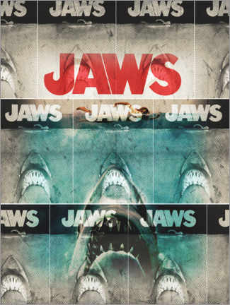 Foam board print  Jaws collage