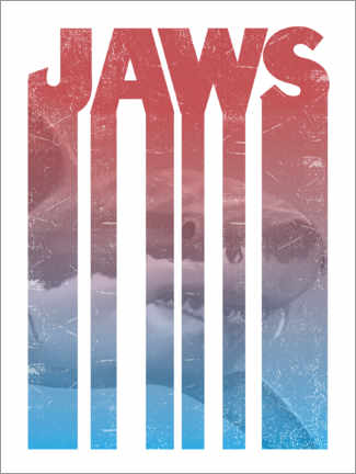 Premium poster  Jaws - stripes