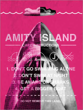 Acrylic print  Amity Island - Care instructions