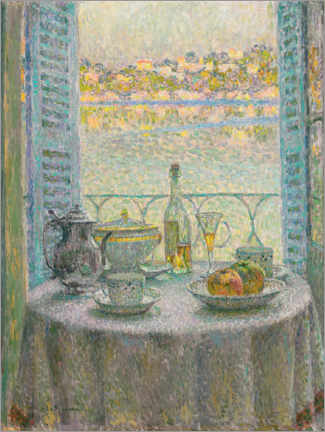 Premium poster  The round table - Henri Le Sidaner