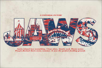 Canvas print  Jaws - Perfect feeding ground