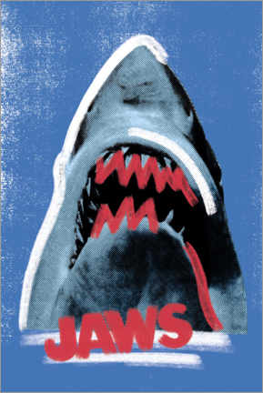 Canvas print  Jaws, mixed media