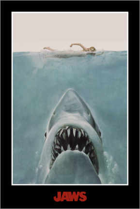 Wall sticker  Jaws - swimmer