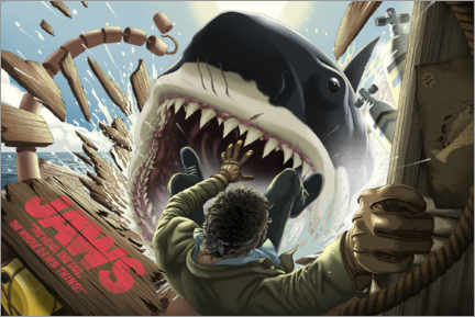 Wall sticker  Jaws - Shark attack