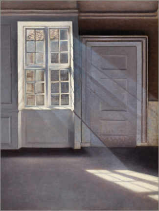 Canvas print  Dust Motes Dancing in Sunbeams - Vilhelm Hammershøi