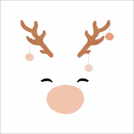 Canvas print  White Reindeer - Orara Studio