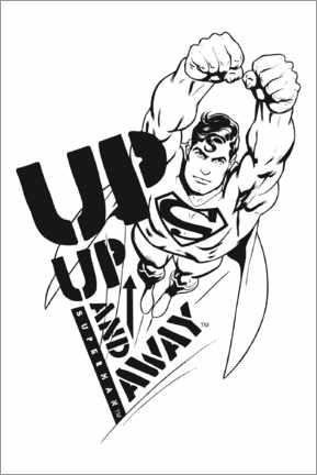 Wall sticker  Superman - Up and away