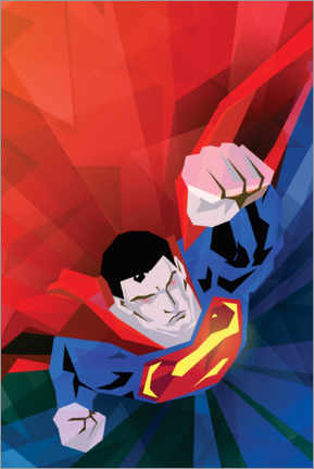 Gallery print  Superman red and blue