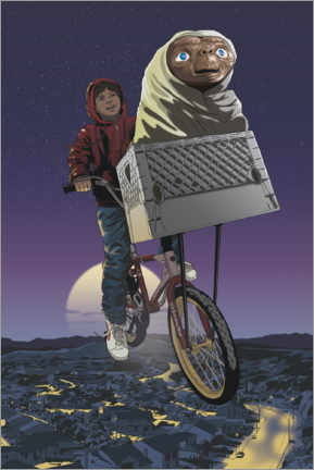 Premium poster  E.T. - Flying Bicycle