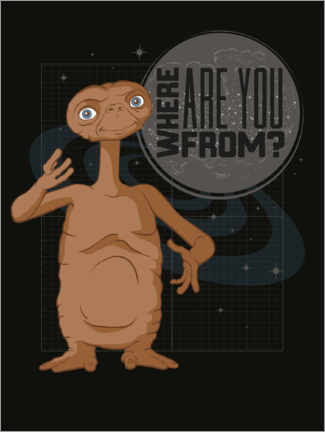 Premium poster  E.T. - Where Are You From?