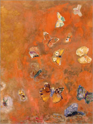 Canvas print  Evocation of Butterflies - Odilon Redon