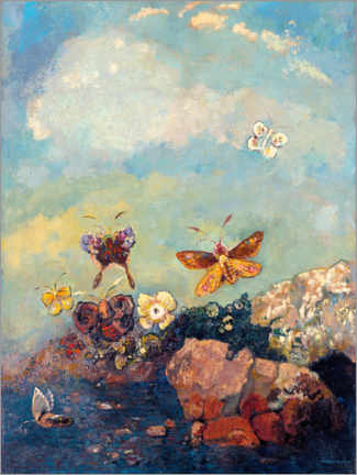 Canvas print  Butterflies - Odilon Redon