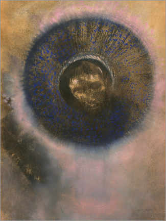 Canvas print  Head within an aureole - Odilon Redon