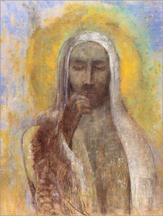Canvas print  Christ In Silence - Odilon Redon