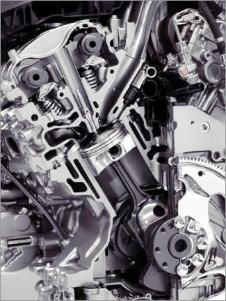 Acrylic print  Car engine with cylinders, pistons and valves - Oleksiy Maksymenko