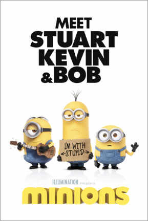 Canvas print  Minions - I'm with stupid