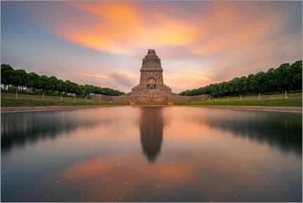 Canvas print  Monument to the Battle of the Nations at sunset - Andreas Vitting