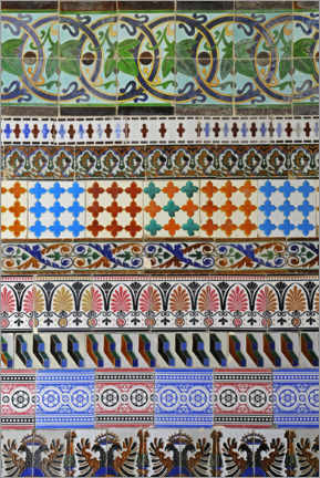Canvas print  Spanish tiles II - Barbara Boensch
