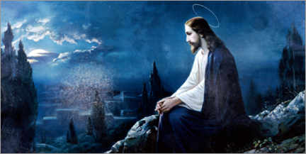 Canvas print  Jesus sitting on the mount of olives - Dr. Wilfried Bahnmüller