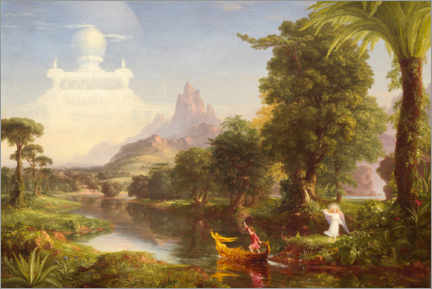 Acrylic print  The journey of life, the youth - Thomas Cole