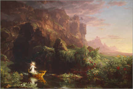 Acrylic print  The journey of life, childhood - Thomas Cole