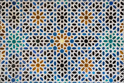 Premium poster  Mudejar tiles in the Alcazar of Seville - Thomas Dressler